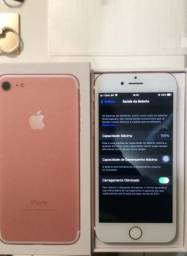 iPhone 7 Rosé Gold 128GB original acessórios + brindes