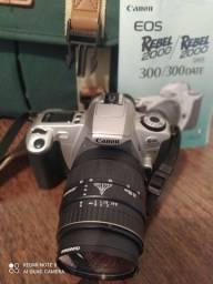 Câmera, Filmadora e binóculo.