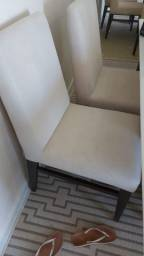 Vendo conjunto de 6 cadeiras por 1200