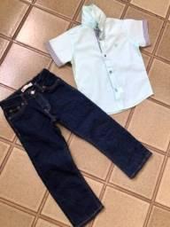 Conjunto Calça Levis + camisa (4 anos)
