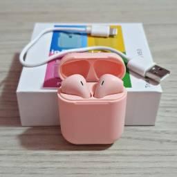 Fone de ouvido bluetooth i12 rosa
