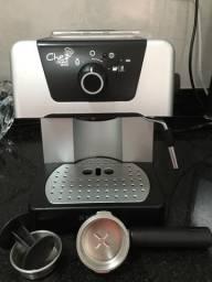 Cafeteira Café Expresso, Eletrolux modelo CHEF CREMA SILVER , nova