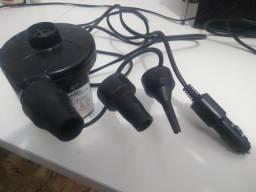 Inflador elétrico 12 v para botes, bóias,bexigas com 3 bicos