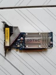 Placa de vídeo Geforce Zotac 512mb 64bits DDR2
