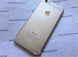 IPhone 6 64gb dourado desbloqueado semi novo