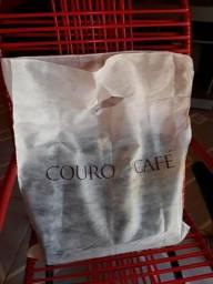 Vendo linda bolsa da couro café zap 991243558