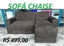 Receba No Mesmo Dia Lindo Sofa Chaise Novo Embalado Apenas 499,00