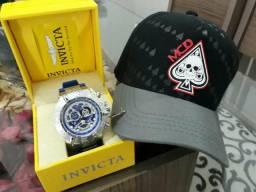 Relógio invicta + BONÉ