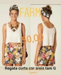 1 Crooped marca Farm tam G off white novo original