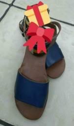 Sandália de couro número 39