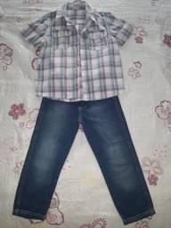 Conjunto PUC 4 anos: Calça jeans e camisa