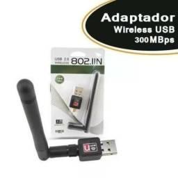 Adaptador Wireless Usb 300mbps C/ Antena 7dbi - Mega Infotech