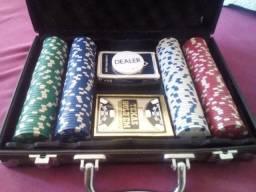 Maleta Poker + Baralho Profissional