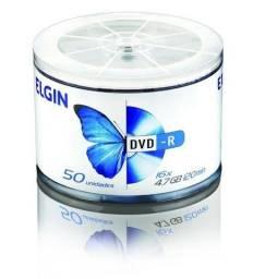DVD Mídia Virgem 50 DVD-r 16x Elgin Printable 4.7gb 120min Grave Filmes, Séries, Jogos