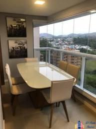 Ap00511 - excelente apartamento no condomínio glass alphaville 100% mobiliado e decorado.