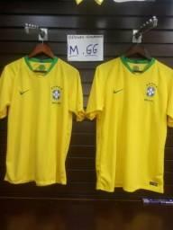 25 Reais Camiseta do Brasil Amarela M e GG