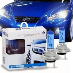 Lampadas Super Brancas 8500k Tipo Xenon Legítimas Tech One-Todos encaixes