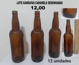 Lote garrafas antigas 12unidades
