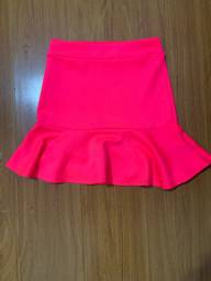 Linda saia, cor rosa neon, tamanho M, forever 21
