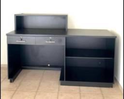Balcão caixa MDF preto