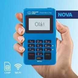 Mercado lança point mini chip, lacradas, novas, pronta entrega