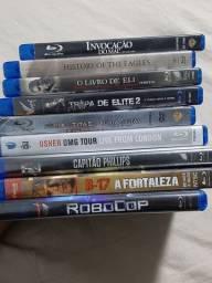 9 DVDs Blu-Ray Usados
