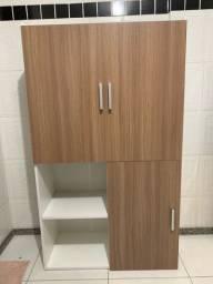 Armário multiuso 2 portas e mesa retrátil