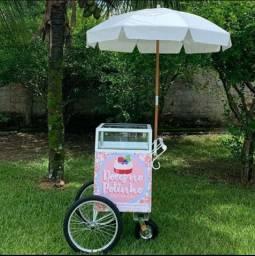 Mini carrinho venda doces e salgados (NUNCA USADO) FOODTRUCK