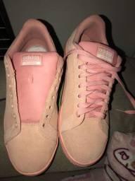 tênis rosa bebê adidas