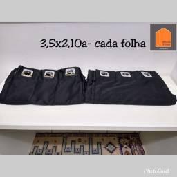 Linda cortina de cetim preto para varão