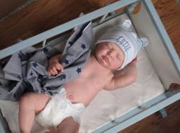 Bebê Reborn Menino corpo inteiro Siliconado