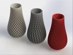 Vaso espiral detalhado 3D