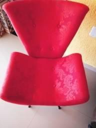 Poltrona Decorativa Vermelha