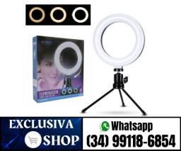 Ring Light Mesa Profissional Luz Alta Intensidade Com Tripe (Fazemos Entregas)