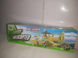 Helicóptero que acende e anda com LEDS