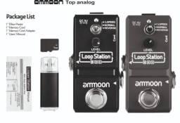 loop station ammoon 3 modos de gravação-completo, cartão sd, pendrive.