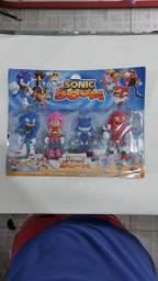 Boneco sonic kit 4 bonecos