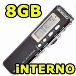 Gravador De Voz Digital 8Gb Portátil com Gravação Telefônica - Loja Coimbra-Temos Motoboy