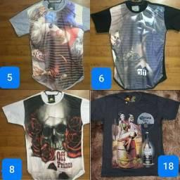 Kit 4 camisas estampadas
