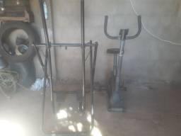 bicicleta ergométrica e elíptico