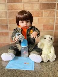 Bebê Reborn menino realista todo em silicone novo (aceito cartão )