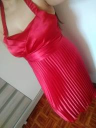 Título do anúncio: Vestido festa cetim vermelho