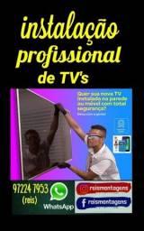 Instalação de SUPORTES DE TV e monitores em geral. serviço profissional. LEIA<br>