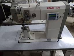 Título do anúncio: Máquina coluna pesponto eletrônica 2 agulhas Pfaff 574 e outra convenc Pfaff 574 2 agulhas