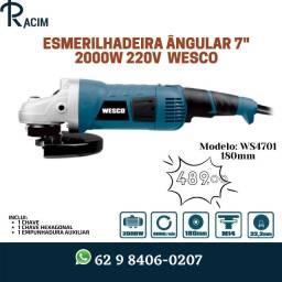 Título do anúncio: Esmerilhadeira Angular Profissional 180mm 2000W 220V WS4701 Wesco