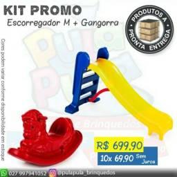Kit Promocional - Escorregador + Gangorra Cavalinho A pronta entrega!!