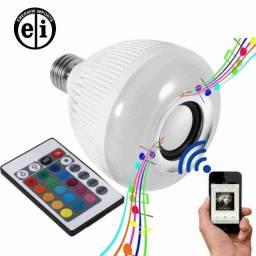 Título do anúncio: Lâmpada LED Com Caixa De Som Controle - Entrega grátis