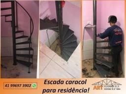 Título do anúncio: Escada caracol residência,  escada acesso Mezanino,  escada Depósito.