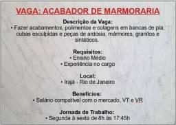 Vaga de Acabador de bancadas - Marmoraria RJ