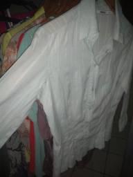 Camisa Botões Manga 3/4 Tamanho 44